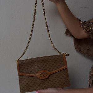 Gucci Bags - Gucci Chain Monogram Crossbody in brown